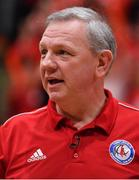 25 January 2020; Griffith College Templeogue head coach Mark Keenan during the Hula Hoops Pat Duffy National Cup Final between DBS Éanna and Griffith College Templeogue at the National Basketball Arena in Tallaght, Dublin. Photo by Brendan Moran/Sportsfile