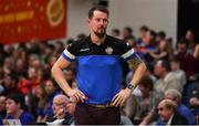 25 January 2020; DBS Eanna head coach Darren McGovern during the Hula Hoops Pat Duffy National Cup Final between DBS Éanna and Griffith College Templeogue at the National Basketball Arena in Tallaght, Dublin. Photo by Brendan Moran/Sportsfile