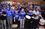 25 January 2020; DBS Éanna supporters prior to the Hula Hoops Pat Duffy National Cup Final between DBS Éanna and Griffith College Templeogue at the National Basketball Arena in Tallaght, Dublin. Photo by Brendan Moran/Sportsfile