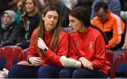 26 January 2020; Tara Lynch, left, and Katie Walshe of Singleton SuperValu Brunell look on during the Hula Hoops Paudie O'Connor National Cup Final between Singleton SuperValu Brunell and Pyrobel Killester at the National Basketball Arena in Tallaght, Dublin. Photo by Brendan Moran/Sportsfile