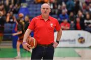 26 January 2020; Singleton Supervalu Brunell assistant coach Mark Foley prior to the Hula Hoops Paudie O'Connor National Cup Final between Singleton SuperValu Brunell and Pyrobel Killester at the National Basketball Arena in Tallaght, Dublin. Photo by Brendan Moran/Sportsfile