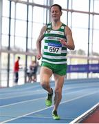 26 January 2020; Sean McDermott of Castlegar AC, Galway, competes in the Men's 800m event during the AAI National Indoor League Round 2 at AIT Indoor Arena in Athlone, Westmeath. Photo by Ben McShane/Sportsfile