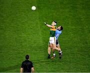 25 January 2020; Referee Seán Hurson keeps a close eye as Seán O'Shea of Kerry jumps with Brian Fenton of Dublin during the Allianz Football League Division 1 Round 1 match between Dublin and Kerry at Croke Park in Dublin. Photo by Ray McManus/Sportsfile