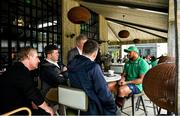 28 January 2020; Bundee Aki during an Ireland Rugby press conference at The Campus in Quinta da Lago, Portugal. Photo by Brendan Moran/Sportsfile