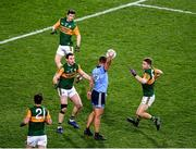 25 January 2020; Ciarán Kilkenny of Dublin calls a 'mark', in the 67th minute, after catching the ball ahead of Kerry full back Tadhg Morley, 3, during the Allianz Football League Division 1 Round 1 match between Dublin and Kerry at Croke Park in Dublin. Photo by Ray McManus/Sportsfile