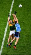 25 January 2020; Brian Howard of Dublin in action against Liam Kearney of Kerry during the Allianz Football League Division 1 Round 1 match between Dublin and Kerry at Croke Park in Dublin. Photo by Ray McManus/Sportsfile