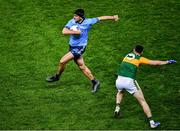 25 January 2020; James McCarthy of Dublin slips past Paul Geaney of Kerry during the Allianz Football League Division 1 Round 1 match between Dublin and Kerry at Croke Park in Dublin. Photo by Ray McManus/Sportsfile