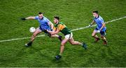 25 January 2020; Jason Foley of Kerry passes the ball under pressure from John Small, left, and Eoin Murchan of Dublin during the Allianz Football League Division 1 Round 1 match between Dublin and Kerry at Croke Park in Dublin. Photo by Ray McManus/Sportsfile