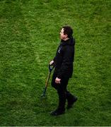 25 January 2020; Stuart Wilson, the Croke Park Pitch Manager, inspects the pitch during half time in the Allianz Football League Division 1 Round 1 match between Dublin and Kerry at Croke Park in Dublin. Photo by Ray McManus/Sportsfile