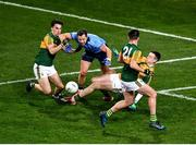25 January 2020; Dean Rock of Dublin is fouled, resulting in a penalty, by a combination of tackles from Brian Ó Beaglaoich of Kerry and goalkeeper Shane Ryan, during the Allianz Football League Division 1 Round 1 match between Dublin and Kerry at Croke Park in Dublin. Photo by Ray McManus/Sportsfile