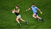 25 January 2020; Kerry captain David Clifford wins possession ahead of Dublin full back David Byrne during the Allianz Football League Division 1 Round 1 match between Dublin and Kerry at Croke Park in Dublin. Photo by Ray McManus/Sportsfile