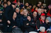 26 January 2020; GAA Presidential candidate Jarlath Burns, centre, talks to supporters before the Allianz Football League Division 1 Round 1 match between Tyrone and Meath at Healy Park in Omagh, Tyrone. Photo by Oliver McVeigh/Sportsfile