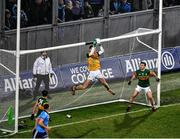25 January 2020; Kerry goalkeeper Shane Ryan, supported by Paul Murphy, 5, catches the ball on his own goal line during the Allianz Football League Division 1 Round 1 match between Dublin and Kerry at Croke Park in Dublin. Photo by Ray McManus/Sportsfile