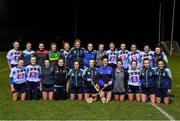 28 January 2020; The UCD squad before the Purcell Cup Camogie Championship Round 2 match between UCD and Athlone IT at UCD Belfield in Dublin. Photo by Matt Browne/Sportsfile