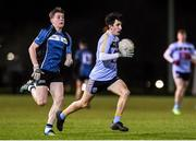 28 January 2020; Ciaran O'Reilly of UCD in action against Cormac Finn of Maynooth during the Freshers A Football Championship Round 2 match between UCD and Maynooth at UCD Belfield in Dublin. Photo by Matt Browne/Sportsfile