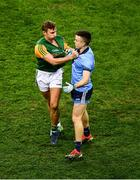 25 January 2020; James O'Donoghue of Kerry and Eoin Murchan of Dublin pull each others jersey during the Allianz Football League Division 1 Round 1 match between Dublin and Kerry at Croke Park in Dublin. Photo by Ray McManus/Sportsfile