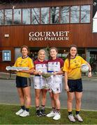 29 January 2020; Gourmet Food Parlour is celebrating the passion of Ladies Footballers to mark the launch of the 2020 GFP Ladies HEC Third Level Championships. In attendance at the launch are, from left, Laura McGinley of DCU and Dublin, Eilish Ronayne of UL and Mayo, Hannah O'Donoghue of UL and Kerry and Muireann Atkinson of DCU and Monaghan.  Photo by David Fitzgerald/Sportsfile