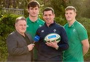 29 January 2020; Presenter Eddie O'Sullivan, left, with Ireland U20 head coach Noel McNamara and players Brian Deeny and Mark Hernan, right, in attendance during the launch of RTÉ's Six Nations Coverage at the RTÉ Television Centre in Dublin. Photo by Matt Browne/Sportsfile