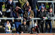 26 January 2020; Tyrone footballer Cathal McShane, front, second from left, watches on during the Allianz Football League Division 1 Round 1 match between Tyrone and Meath at Healy Park in Omagh, Tyrone. Photo by Oliver McVeigh/Sportsfile