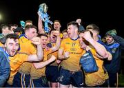 29 January 2020; DCU Dóchas Éireann players celebrate following their side's victory of the Sigerson Cup Final match between DCU Dóchas Éireann and IT Carlow at Dublin City University Sportsgrounds in Glasnevin, Dublin. Photo by Seb Daly/Sportsfile