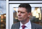 30 January 2020; FAI Interim Deputy Chief Executive Niall Quinn following a Government Officials, FAI, UEFA and Bank of Ireland meeting at the Department of Transport, Tourism and Sport in Dublin. Photo by Harry Murphy/Sportsfile