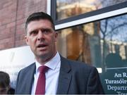30 January 2020; FAI Interim Deputy Chief Executive Niall Quinn speaks following a Government Officials, FAI, UEFA and Bank of Ireland meeting at the Department of Transport, Tourism and Sport in Dublin. Photo by Harry Murphy/Sportsfile