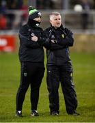 25 January 2020; Donegal strength and conditioning coach Paul Fisher and selector Stephen Rochford before the Allianz Football League Division 1 Round 1 match between Donegal and Mayo at MacCumhaill Park in Ballybofey, Donegal. Photo by Oliver McVeigh/Sportsfile