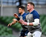 31 January 2020; Tadhg Furlong during an Ireland Rugby captain's run at the Aviva Stadium in Dublin. Photo by Seb Daly/Sportsfile