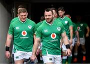 31 January 2020; Cian Healy, right, and Tadhg Furlong during an Ireland Rugby captain's run at the Aviva Stadium in Dublin. Photo by Seb Daly/Sportsfile