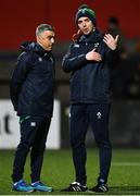 31 January 2020; Ireland head coach Noel McNamara speaks with assistant coach Kieran Campbell prior to the U20 Six Nations Rugby Championship match between Ireland and Scotland at Irish Independent Park in Cork. Photo by Harry Murphy/Sportsfile