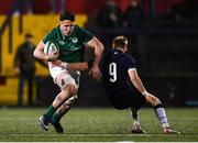 31 January 2020; David McCann of Ireland is tackled by Roan Frostwick of Scotland during the U20 Six Nations Rugby Championship match between Ireland and Scotland at Irish Independent Park in Cork. Photo by Harry Murphy/Sportsfile