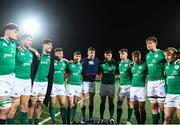 31 January 2020; Ireland players huddle following the U20 Six Nations Rugby Championship match between Ireland and Scotland at Irish Independent Park in Cork. Photo by Harry Murphy/Sportsfile