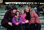 1 February 2020; Sisters Emily O'Connor, aged 6, and Katie O'Connor, aged 10, from Listowel with their mother Imelda O'Connor and their grandmother Joan O'Connell prior to the Allianz Football League Division 1 Round 2 match between Kerry and Galway at Austin Stack Park in Tralee, Kerry. Photo by Diarmuid Greene/Sportsfile