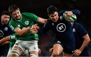 1 February 2020; Sam Johnson of Scotland is tackled by Tadhg Furlong of Ireland during the Guinness Six Nations Rugby Championship match between Ireland and Scotland at the Aviva Stadium in Dublin. Photo by Brendan Moran/Sportsfile