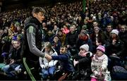 1 February 2020; Kerry captain David Clifford is greeted by supporters prior to the Allianz Football League Division 1 Round 2 match between Kerry and Galway at Austin Stack Park in Tralee, Kerry. Photo by Diarmuid Greene/Sportsfile
