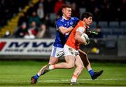 1 February 2020; Paddy Burns of Armagh in action against Colm Murphy of Laois during the Allianz Football League Division 2 Round 2 match between Laois and Armagh at MW Hire O'Moore Park in Portlaoise, Laois. Photo by Sam Barnes/Sportsfile