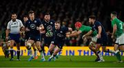 1 February 2020; Stuart Hogg of Scotland is tackled by Josh van der Flier of Ireland during the Guinness Six Nations Rugby Championship match between Ireland and Scotland at the Aviva Stadium in Dublin. Photo by Brendan Moran/Sportsfile