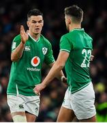 1 February 2020; Jonathan Sexton of Ireland is substituted for team-mate Ross Byrne during the Guinness Six Nations Rugby Championship match between Ireland and Scotland at the Aviva Stadium in Dublin. Photo by Brendan Moran/Sportsfile