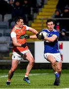 1 February 2020; Brian Byrne of Laois in action against Aaron McKay of Armagh during the Allianz Football League Division 2 Round 2 match between Laois and Armagh at MW Hire O'Moore Park in Portlaoise, Laois. Photo by Sam Barnes/Sportsfile