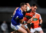 1 February 2020; John O'Loughlin of Laois in action against Stephen Sheridan of Armagh during the Allianz Football League Division 2 Round 2 match between Laois and Armagh at MW Hire O'Moore Park in Portlaoise, Laois. Photo by Sam Barnes/Sportsfile