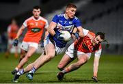 1 February 2020; Evan O'Carroll of Laois in action against Brendan Donaghy of Armagh during the Allianz Football League Division 2 Round 2 match between Laois and Armagh at MW Hire O'Moore Park in Portlaoise, Laois. Photo by Sam Barnes/Sportsfile
