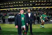 1 February 2020; Ireland head coach Andy Farrell and Tadhg Furlong of Ireland following the Guinness Six Nations Rugby Championship match between Ireland and Scotland at the Aviva Stadium in Dublin. Photo by Ramsey Cardy/Sportsfile