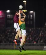 1 February 2020; Jack Barry of Kerry in action against Damien Comer of Galway during the Allianz Football League Division 1 Round 2 match between Kerry and Galway at Austin Stack Park in Tralee, Kerry. Photo by Diarmuid Greene/Sportsfile