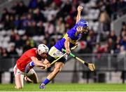 1 February 2020; John McGrath of Tipperary is tackled by Tim O' Mahony of Cork during the Allianz Hurling League Division 1 Group A Round 2 match between Cork and Tipperary at Páirc Uí Chaoimh in Cork. Photo by Eóin Noonan/Sportsfile