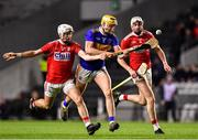 1 February 2020; Mark Kehoe of Tipperary is tackled by Tim O' Mahony of Cork during the Allianz Hurling League Division 1 Group A Round 2 match between Cork and Tipperary at Páirc Uí Chaoimh in Cork. Photo by Eóin Noonan/Sportsfile