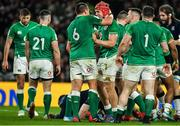 1 February 2020; Josh van der Flier and CJ Stander of Ireland celebrate winning a turnover penalty during the Guinness Six Nations Rugby Championship match between Ireland and Scotland at the Aviva Stadium in Dublin. Photo by Brendan Moran/Sportsfile