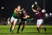 1 February 2020; David Clifford of Kerry in action against Cillian McDaid and Sean Mulkerrin of Galway during the Allianz Football League Division 1 Round 2 match between Kerry and Galway at Austin Stack Park in Tralee, Kerry. Photo by Diarmuid Greene/Sportsfile
