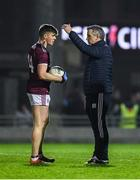 1 February 2020; Galway manager Padraic Joyce in conversation with Galway captain Shane Walsh prior to the Allianz Football League Division 1 Round 2 match between Kerry and Galway at Austin Stack Park in Tralee, Kerry. Photo by Diarmuid Greene/Sportsfile