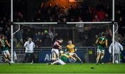 1 February 2020; Shane Walsh of Galway shoots to score his side's second goal past Kerry goalkeeper Shane Ryan during the Allianz Football League Division 1 Round 2 match between Kerry and Galway at Austin Stack Park in Tralee, Kerry. Photo by Diarmuid Greene/Sportsfile