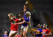 1 February 2020; Padraic Maher of Tipperary wins a high ball over Seamus Harnedy of Cork during the Allianz Hurling League Division 1 Group A Round 2 match between Cork and Tipperary at Páirc Uí Chaoimh in Cork. Photo by Eóin Noonan/Sportsfile